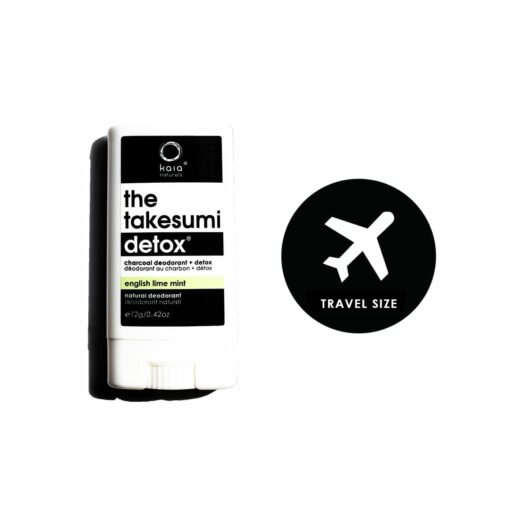 english lime mint charcoal deodorant travel size - kaia naturals