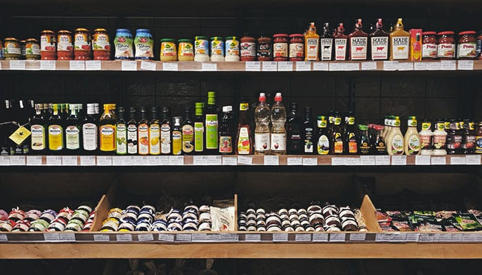 grocery shelf of apple cider vinegar - kaia naturals