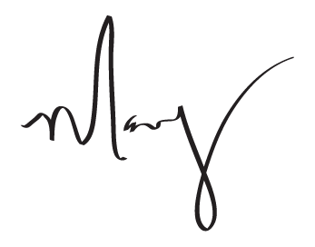 founder Mary Futher's signature