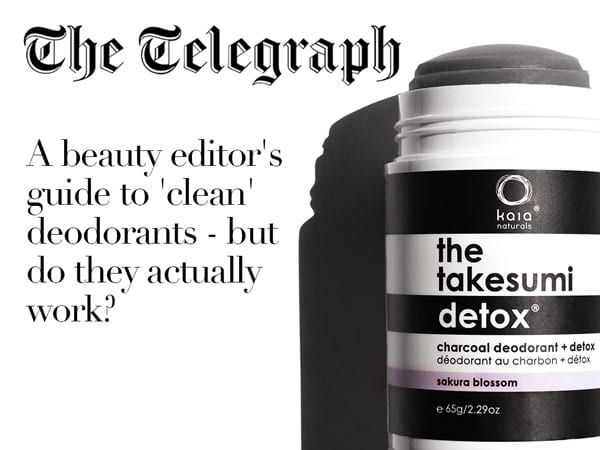 the telegraph a beauty editor's guide to 'clean' deodorants - but do they actually work?