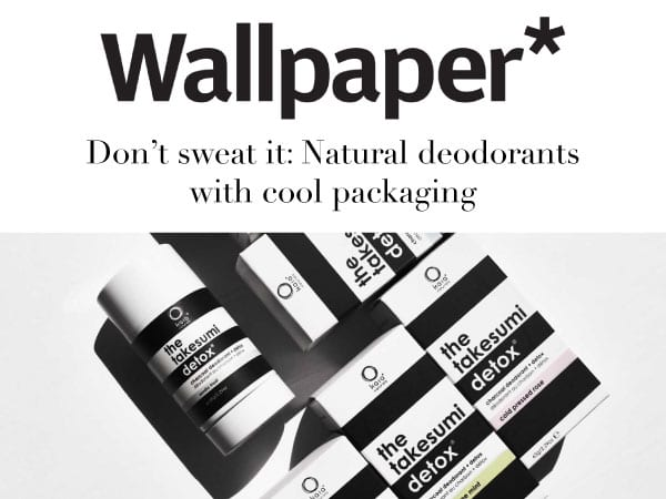 Wallpaper Press Hit - Don't Sweat It: Natural Deodorants with cool packaging