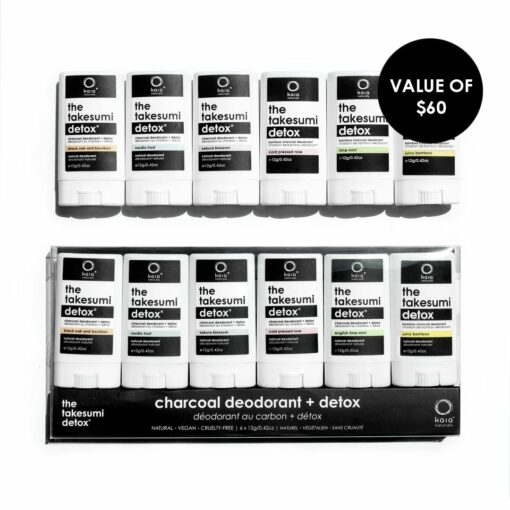 discovery set of charcoal deodorant - value of $60