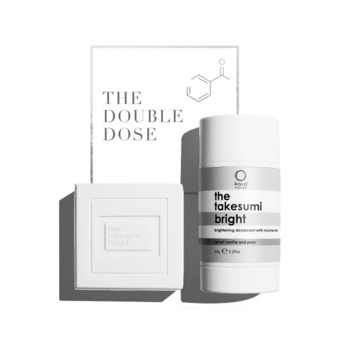 double dose on white background