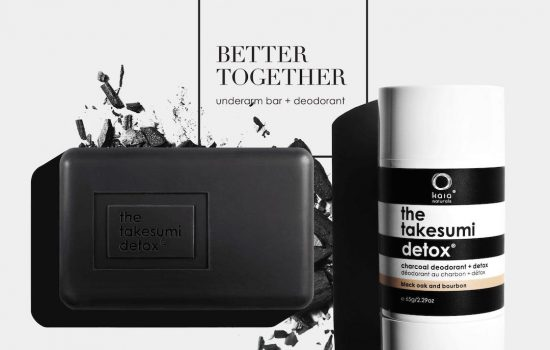 better together graphic showing underarm bar and charcoal deodorant