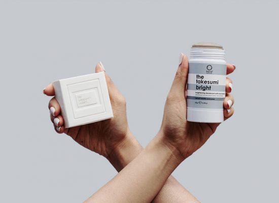 the takesumi bright kojic acid body bar and niacinamide brightening deodorant and body balm