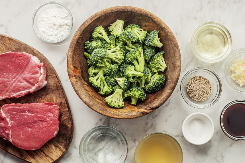red meat and broccoli by thespruceeats.com