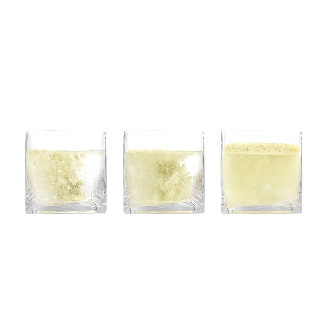 matcha bath salt in water