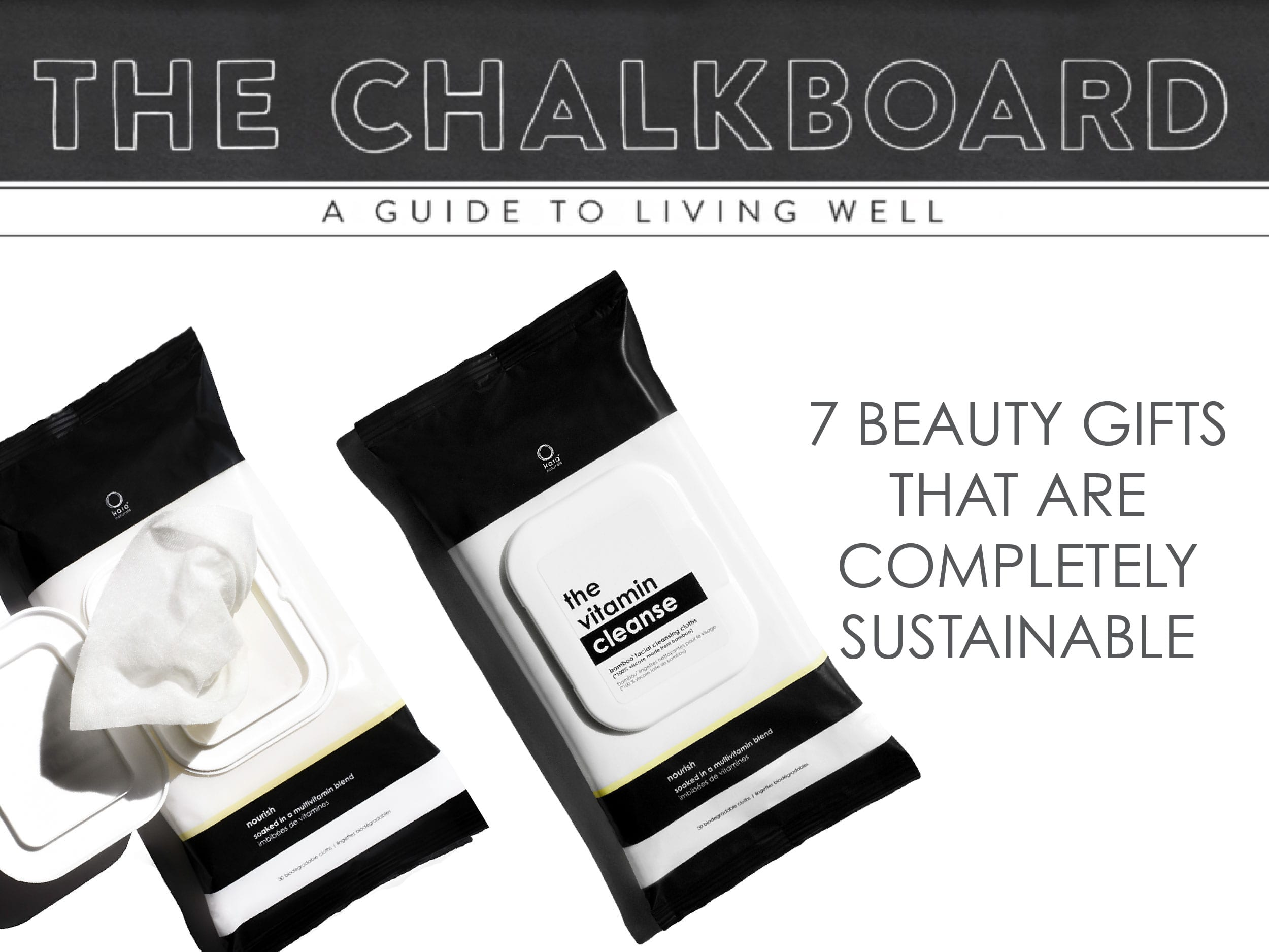 7 sustainable beauty gifts