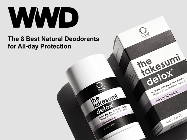 womens wear daily article featuring charcoal deodorant